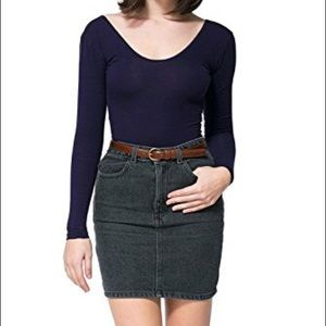 American Apparel High Waist Denim Skirt M